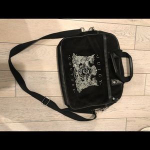 Juicy Couture Velvet Shoulder Bag/ Laptop Bag
